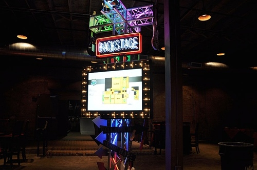 Backstage Neon Sign
