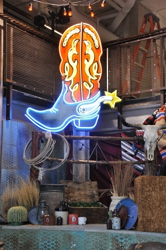 Large Cowboy Boot Neon