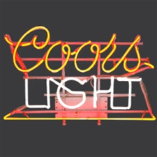 Coors Light Beer Neon Sign