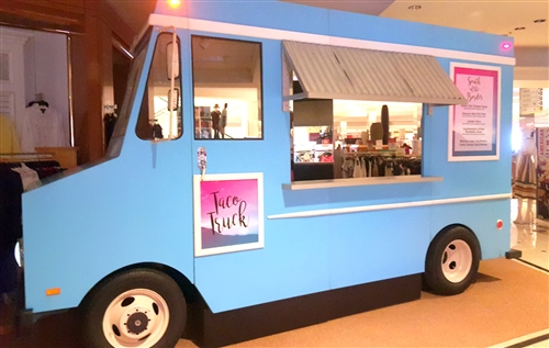 Blue Faux Food Truck