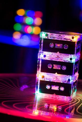 Lighted Cassette Tape Centerpiece