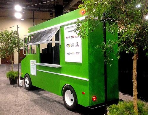 Green Faux Food Truck