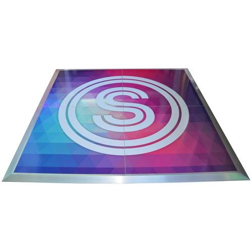 Custom Printed Dance Floor 4 X 4 Sections White