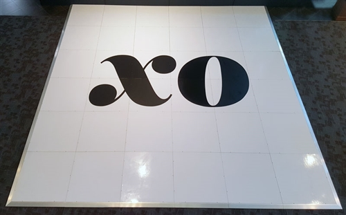 Custom Printed Dance Floor 4 X 4 Sections White