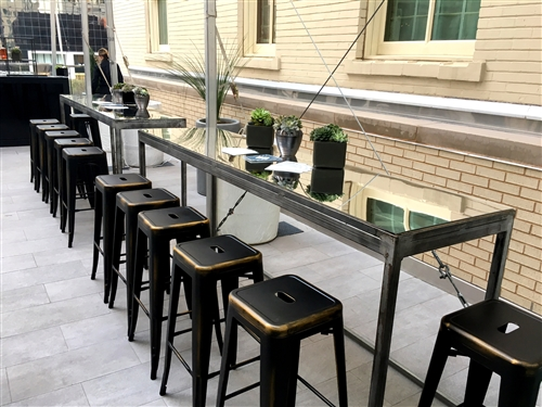Metal Communal Table