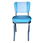 Aqua and White Diner Chair