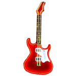 Oversized Red Neon Guitar