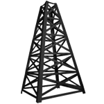 16' Tall Black Oil Derrick