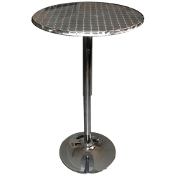 Chrome Highboy Table
