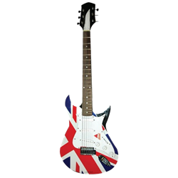 Union Jack/British Guitar