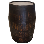 Large Whiskey Barrel
