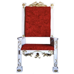 White Santa Chair