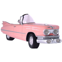 Side of a Pink Cadillac Convertible