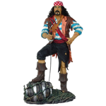 Standing Pirate with Barrel
