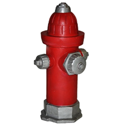 Fire Hydrant - Red & Silver