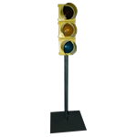Small Yellow Traffic Light