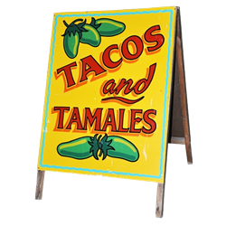Taco and Tamales Sign