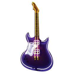 Oversized Purple Neon Guitar