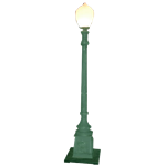 10' Green Lamp Post