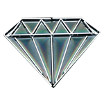 Small Neon Diamond
