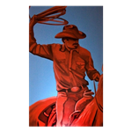 Cowboy Painting Red