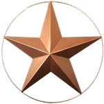 Bronze Metal Star