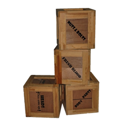 Set of (4) Body Part Crates