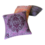 Cluster of (3) Moroccan Pillows