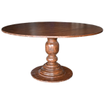"Rustic 60"" Round Table"