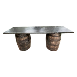 Whiskey Barrel Communal Table