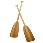 Set of (2) Oak Paddles