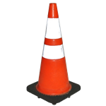 Orange Street Cone with White