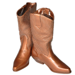 Pair of Bronze Cowboy Boots