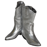 Pair of Silver Cowboy Boots