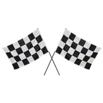 Set of (2) Checkered Flags