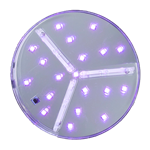 "LED Battery Color Light 6"" Round"