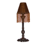 Brown Beaded Candle Lamp