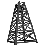 13' Tall Black Oil Derrick