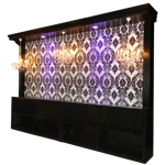 16' Long Black Back Bar