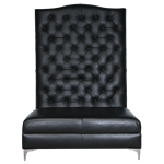 Black Leather Banquette