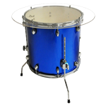 Drum End Table Blue