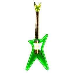 Oversized Green Neon Guitar