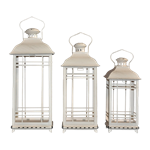 Set of (3) White Lanterns