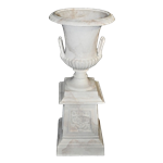 Tall Faux Marble Urn