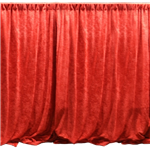Red Drape Panel 16' Long