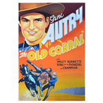 Oversized Western Movie Poster - Gene Autry