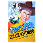 Oversized Western Movie Poster - Tex Ritter