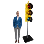 Large Yellow Traffic Light