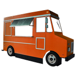 Orange Faux Food Truck