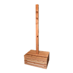 Cedar Pole - Crate Base